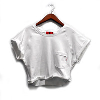 Jodi-Ann Semi Cropped Sweatshirt (White)