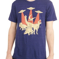 ModCloth Quirky Long Short Sleeves T-Rextraterrestrial Menb