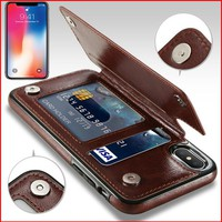PU Leather Case For iPhone X 6 6s 7 8 Plus XS 5S SE XS Max XR 10  Multi Card Holders