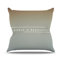 """Galaxy Eyes """"Simple Beautiful"""" Outdoor Throw Pillow"""