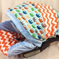 Chevron Urban Boy Infant Car Seat Cover by BabyCarSeatCovers