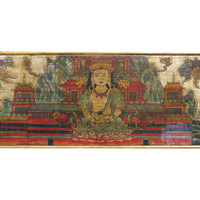 Madera Home, Painted Buddha Panel, Gold/Red, Tapestries & Panels