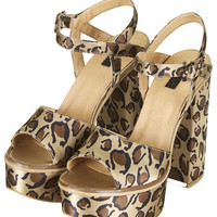 LILITH Leopard Chunky Sandals - Topshop