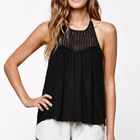 Billabong Your Time Crochet Bib Halter Tank Top at PacSun.com
