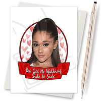 Ariana Grande. Cat Ears. Dangerous Woman. Funny Valentine Card. Boyfriend Gift. Sexy Valentine Card. Love Card For Him. Modern Valentine.