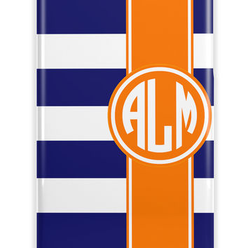 NAUTICAL STRIPES AND RIBBON - CUTE PREPPY PERSONALIZED IPHONE CASE