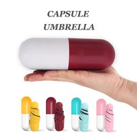 Mini Capsule Pill Pocket Umbrella