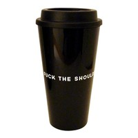 Fuck the Shoulds. Do The Wants Travel Mug in Black