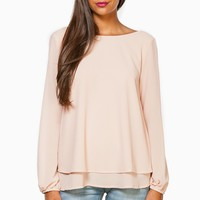 ShopSosie Style : Blythe Blouse in Blush