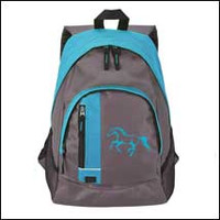 Blue and Gray Book Bag with Blue Horse head By AWST International