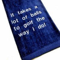 Golf Towel,Embroidered Golf,Gift for Him,Golfer Gift,Premium Golf Towel,Tri-Fold Golf Towel,Funny Golf Gift,Funny Golf Towel,Custom Golf
