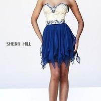 Short Strapless Party Dress by Sherri Hill