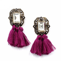 Fringed victorian earrings - FREE SHIPPING!