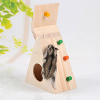 Multi-Function Hamsters Pet Toy Natural Wooden Colorful Scaling Ladder Fun Toy for Pet Rat Hamsters Excellent Quality Hot