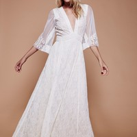 Free People Eclair Lace Maxi Dress