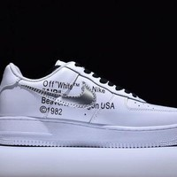 PEAPNW6 Nike Air Force 1 One OFF-WHITE x Nk Air Force 1 Low Running Sport Casual Shoes