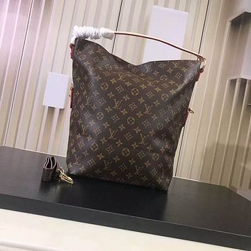lv louis vuitton women leather shoulder bags satchel tote bag handbag shopping leather tote crossbody 53