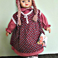 SALE! Super Vintage Ceramic TATI Doll With Tags By Gerhard Dargel Bremen Germany, Collectible doll