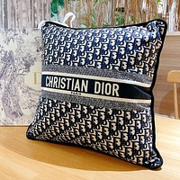 Christian Dior Embroidered Pattern Letter Logo Sofa Pillow Pillow