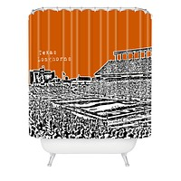 Bird Ave Texas Longhorns Orange Shower Curtain