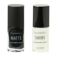 Black & White French Twist Nail Polish Set