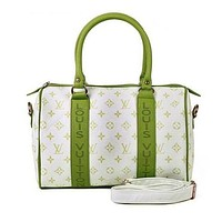 "LV ""Louis Vuitton"" Hot Popular Women Print Leather Travel Satchel Handbag Shoulder Bag Crossbody Green I"