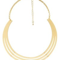 Gold Cut-Out Crescent Choker Necklace by Charlotte Russe