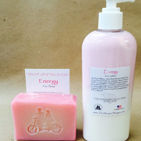 Energy Premium Lotion/ Luxe Bar Combo/8 oz. Lotion/5 oz. Luxe Bar/Soapie Shoppe Haywood Mall