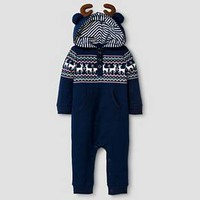 Baby Boys' Reindeer Coverall Baby Cat & Jack™ - Night Blue