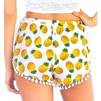 Shorts Pineapple Cocktail in Yellow
