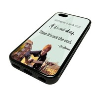 Apple iPhone 5C 5 C Case Cover Ed Sheeran Quote DESIGN BLACK RUBBER SILICONE Teen Gift Vintage Hipster Fashion Design Art Print Cell Phone Accessories