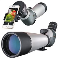 HD 20-60x80 Spotting Scope, Waterproof Dual Focusing Zoom BAK4 Fully Multi Coated 45 Degree Angled Eyepiece for Hunting Archery Shooting Targets Bird Watching with Smartphone Adapter HD 20-60x80 Dual