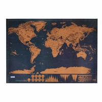 Travel Edition Scratch Off World Map Poster Personalized Journal Map Home Decor material escolar