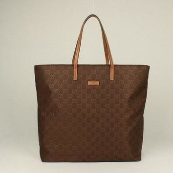 Gucci Tote bags 295252 Ladies Coffee Cow Leather HandBags