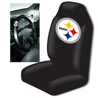 Pittsburgh Steelers Car Seat Cover and Steering Wheel Cover Set