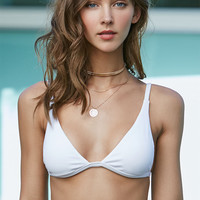 LA Hearts Ribbed Fixed Triangle Bikini Top at PacSun.com