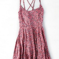 AEO Women's Don't Ask Why Strappy Flounce Dress