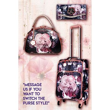 Queen Arosa 3PC Set | Tote Bag Luggage Set with Crossbody Bag