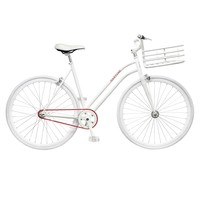 White Steel Alloy Real Bike | Martone Cycling Co | Avenue32