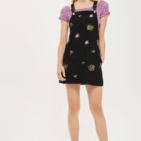 PETITE Floral Embroidered Pinafore Dress | Topshop