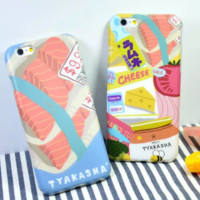 Lovely sushi Case Cover for Apple iPhone 6 6S 6 Plus 6S Plus 160824-001