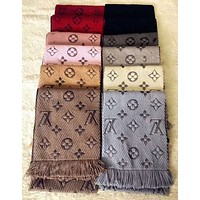 "LV ""Louis Vuitton"" Trending Women Men Embroider Easy To Match Scarf Scarves Accessories(12-Color) I-YH-FTMPF"