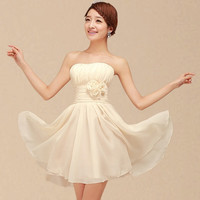 The bridesmaids dresses   Korean short skirt dress wedding dress = 1930097668