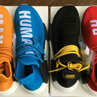 2017 Human Race NMD Factory Real Boost Yellow Red Green Black Orange NMD Men Pharrell Williams X Human Race NMD Running Shoes Sneakers