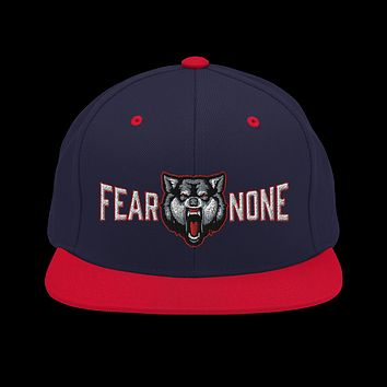 Fear None Wolf Snapback Hat
