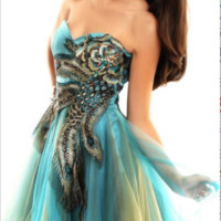 SALE Nina Canacci CL1515 Peacock Short Homecoming Prom Dress