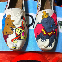 Hand Painted Disney Toms - Winnie the Pooh and Dumbo