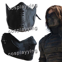Captain America 2:The Winter Soldier Bucky Barnes Latex Cosplay Prop Helmet Mask