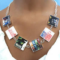 DeSiGn your OWN-Broadway Musical Necklace-cats,mama ma-phantom-les miserables-annie-you pick shows