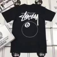 """""""Stussy"""" Casual Print Short Sleeve Shirt Top Tee Blouse With Shorts  G-A-GHSY-1"""